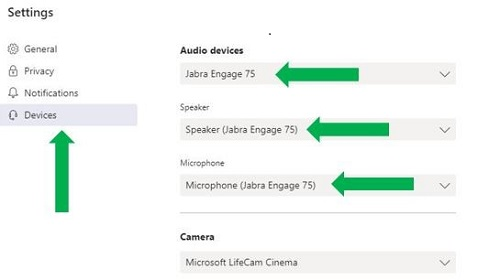 How do I set up my Jabra device to work with Microsoft Teams?